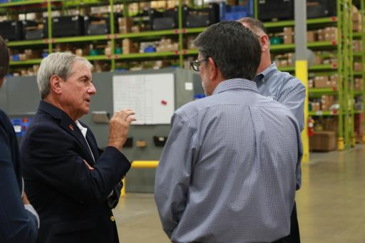 Rep Yarmuth speaks with Mike Grossman CLARK EVP and General Counsel and Dennis Lawrence CLARK President & CEO